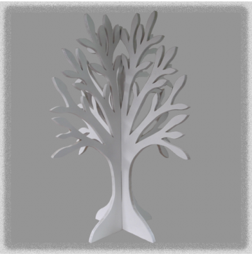 Double Sided Jewellery Tree - White