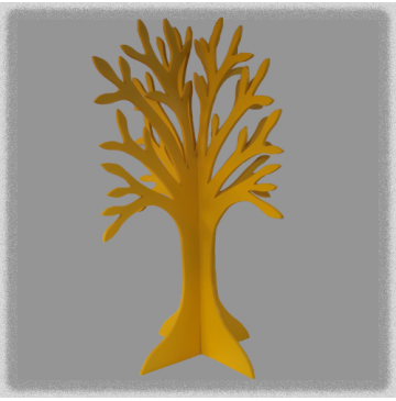 Double Sided Jewellery Tree - Yellow