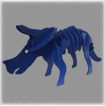 Triceratops - Blue