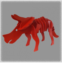 Triceratops - Red